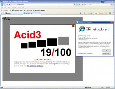 Internet Explorer 8 full v Acid3 teste - HANBA!