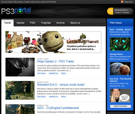 Playstation 3 Portal - PS3Portal.sk