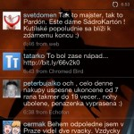htc hd2 twitter - Peep