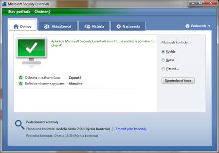 Antivírus zadarmo na stiahnutie od Microsoftu