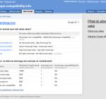 Odporúčania a rady v Site finder