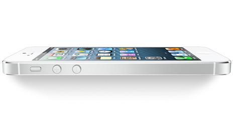iPhone 5 - biely, z boku