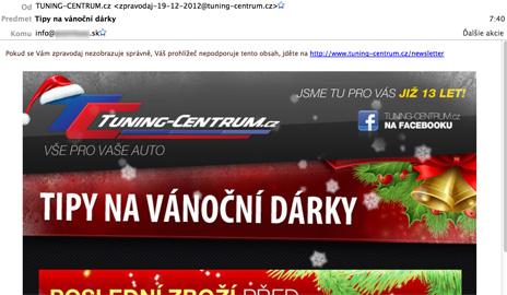 Tuning-centrum.cz – usvedčený spamer