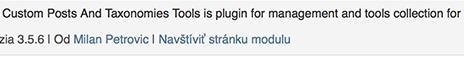 Stará verzia pluginu, ktorá spôsobila problém