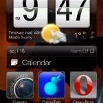 htc hd2 home screen