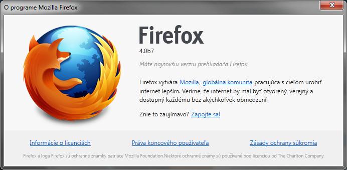 Firefox 4 beta 7 – konečne vonku