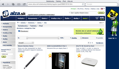 iPad 2 a surfovanie na internete