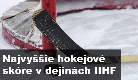 Hokejové rekordy – najvyššie skóre v dejinách IIHF