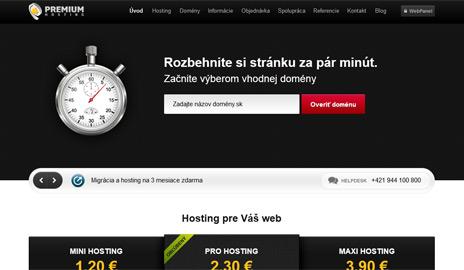 Nový web PremiumHosting.sk – krátke predstavenie