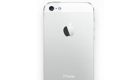 iPhone 5 - biely, zadná strana