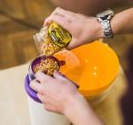 testovanie prístroja - príprava popcornu v priamom prenose